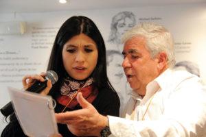 Alejandra Olaya y 'Pecas'